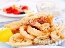 Рецепта Панирани калмари
